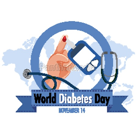 world diabetes day logo or banner