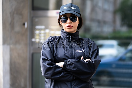 security guard officer in uniform