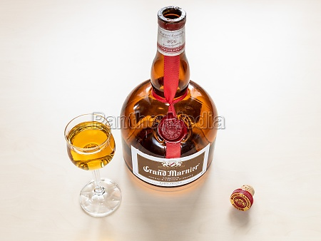 glass with grand marnier orange flavored