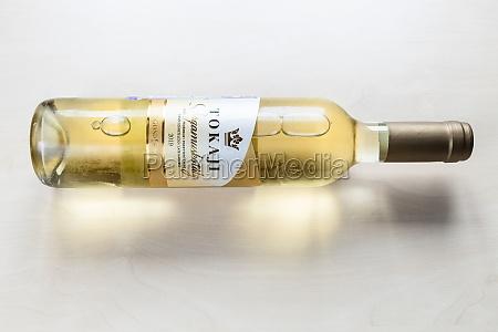 bottle of hungarian sweet wine tokaji