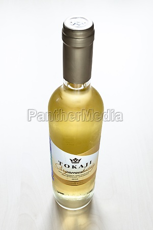 closed bottle of hungarian sweet wine