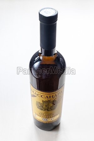 closed, bottle, with, fortified, wine, massandra - 30527733