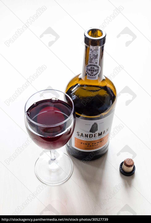 wineglass, and, bottle, of, sandeman, fine - 30527739