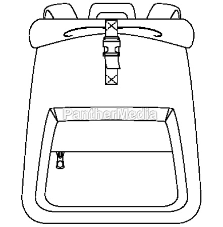 isolated bag on white background