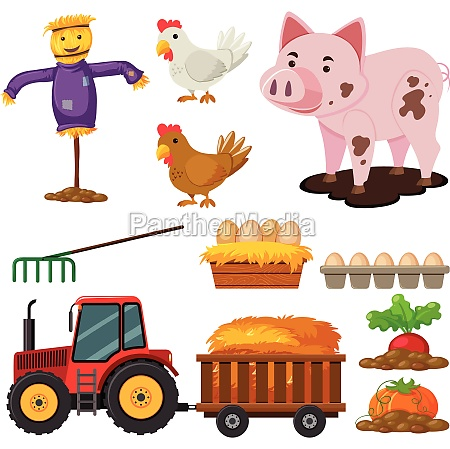 different types of farm elements