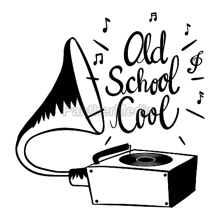 word expression for old school cool