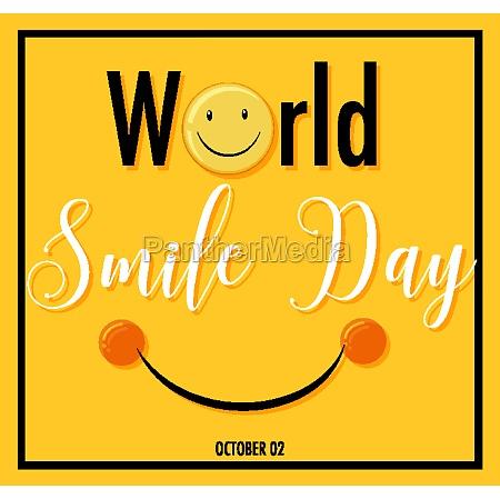 world smile day banner