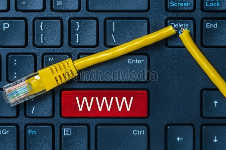 internet or online concept with www