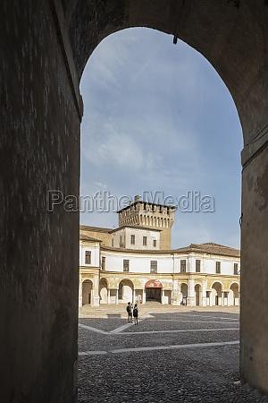 castello square in mantua italy