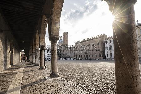 sordello square in mantua italy