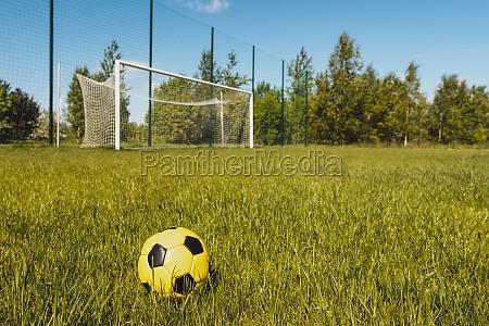 ball on soccer field