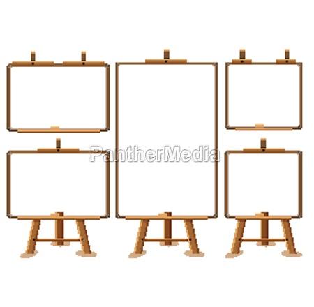 board blank banner on white background