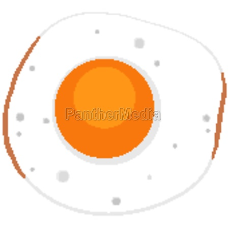 isolated sunny side up egg