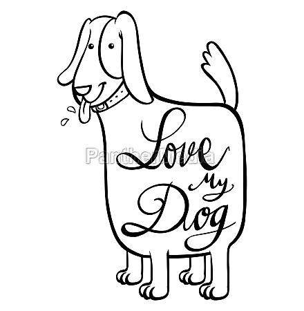 english phrase for love my dog