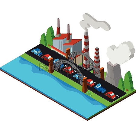 3d design for power station by