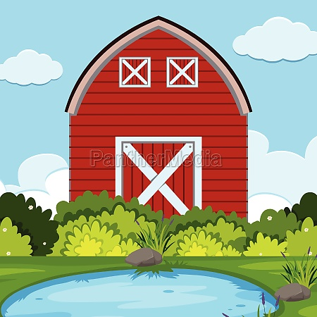a rural farm landscape