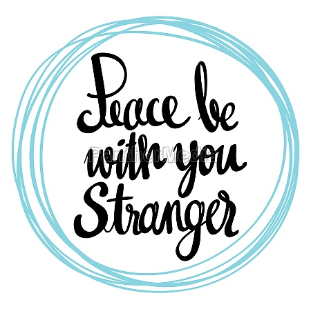word expression for peace be with