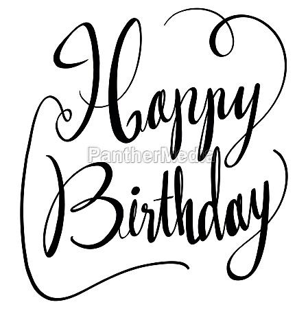 doodles word design for happy birthday