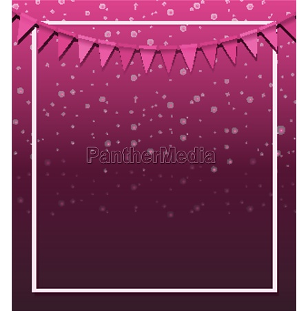 background design with pink flags