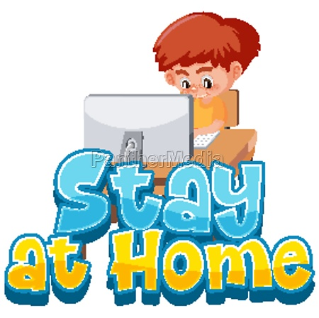 boy stay at home to avoid