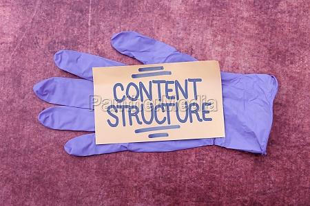 conceptual caption content structure internet concept