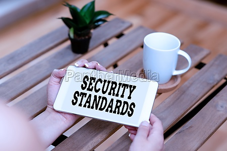 inspiration showing sign security standards business