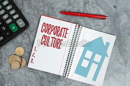 conceptual display corporate culture business showcase