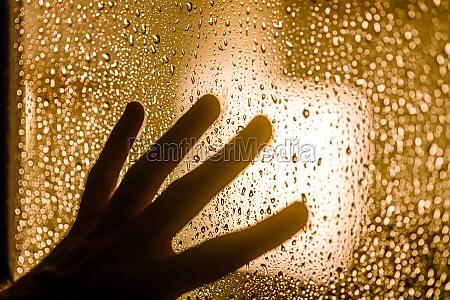 depression and goodbye concept dark silhouette
