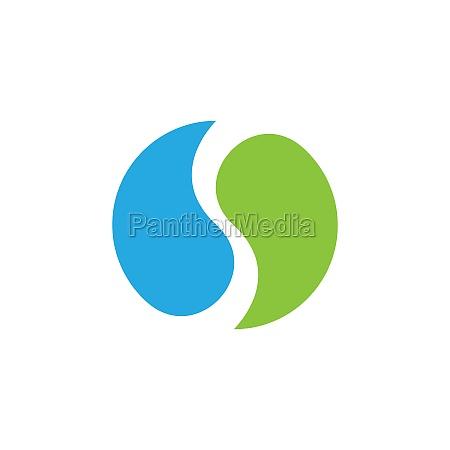 yin yang vector icon design illustration