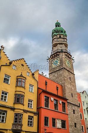 colorful architecture in innsbruck austria
