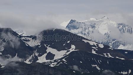 mountains schwarzhorn and schreckhorn seen from