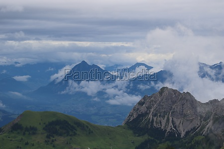 mountains giswilerstock and stanserhorn on a