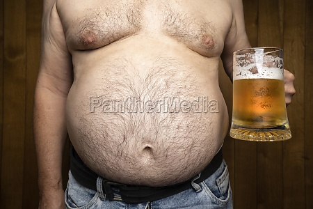a guy with a beer belly