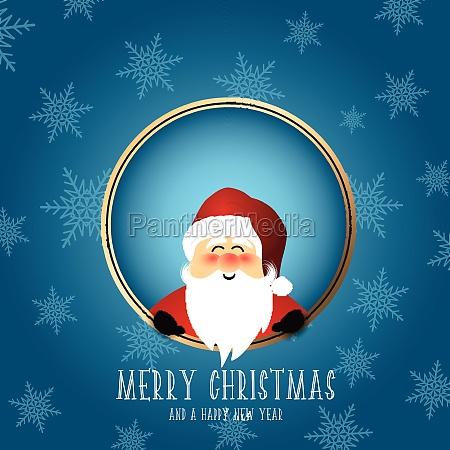 cute santa christmas background 2111