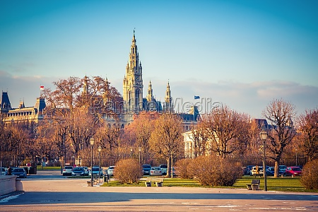 view on town hall in vienna