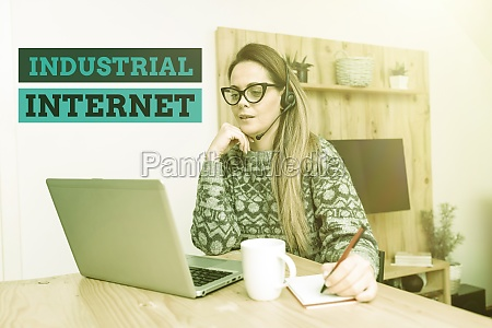 text sign showing industrial internet business