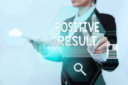 handwriting text positive result concept meaning