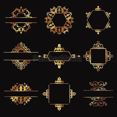 decorative gold design elements