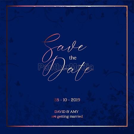 decorative save the date design 2709