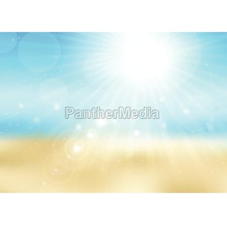 defocussed sunny beach scene 2707