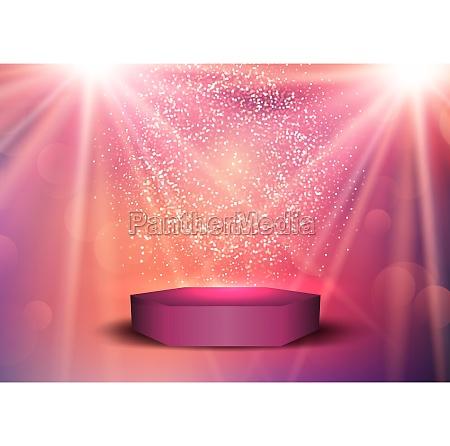 display podium under spotlights 0610
