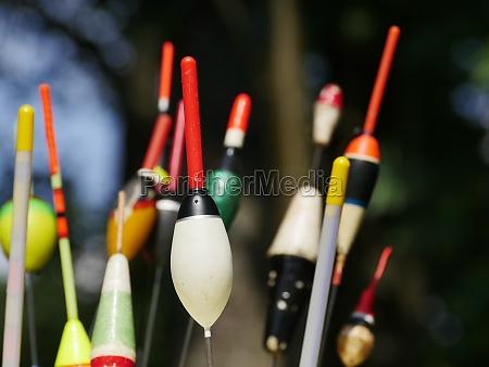 fishing bobbers close up