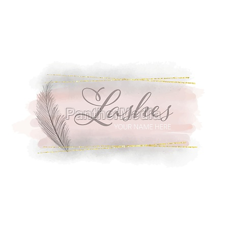 feminine watercolour logo design 2604