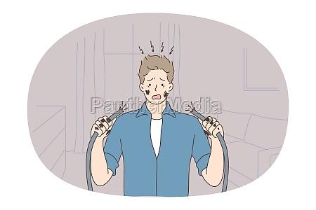 nerves bad news mental depression concept