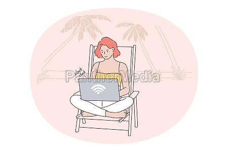 freelance distant work online communication