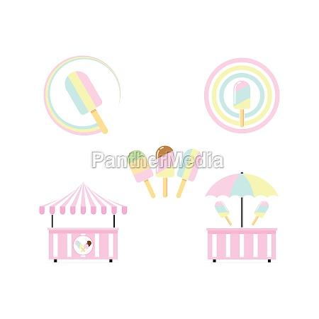 ice cream bar icon vector