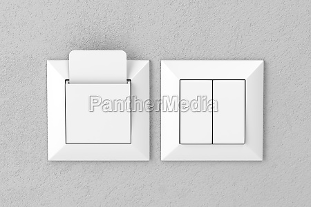 key card reader and light switches