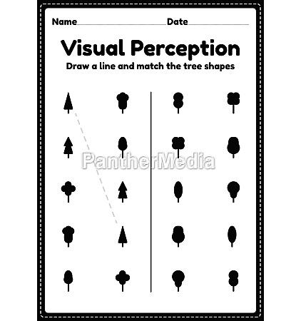 visual perceptual activity skills shapes worksheet