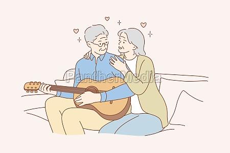 couple love play romance music recreation