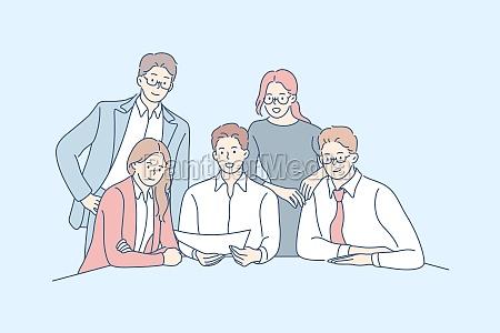 business team collaboration partnership concept